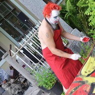 Ville-Karel Viirelaid: Action painting performance heinäkuussa 2015